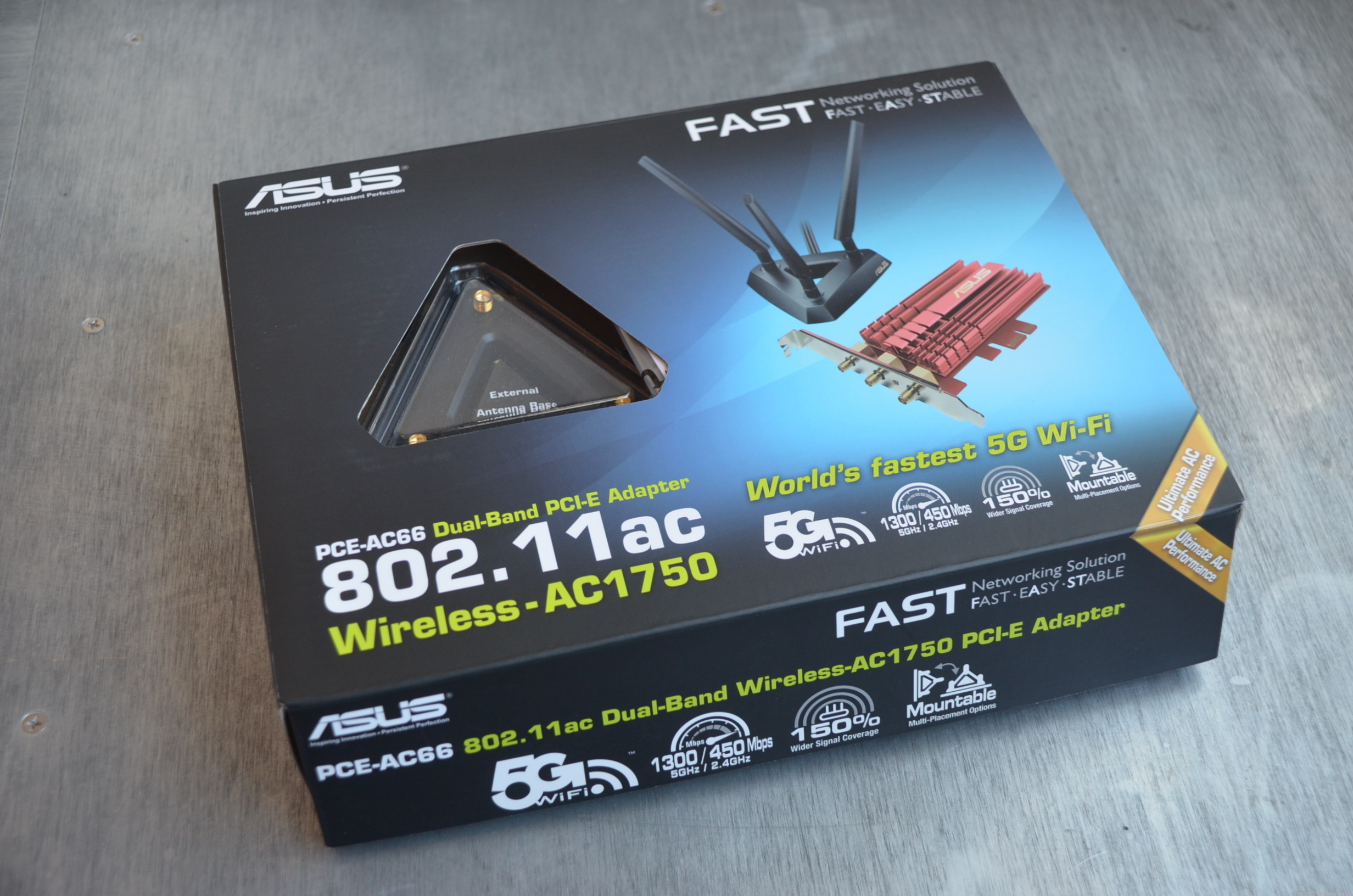 The Asus PCE-AC66 is the first PCIe add-on card that offers the full speed of the 802.11ac Wi-Fi standard.