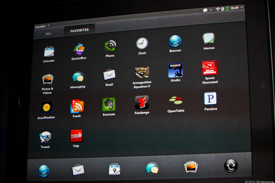 Apps on the HP TouchPad