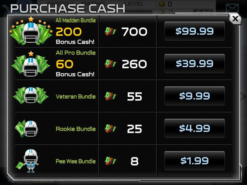 Are you ready for some fleeceball? Madden NFL 25 for iOS has an in-app purchase option that costs $99.99.