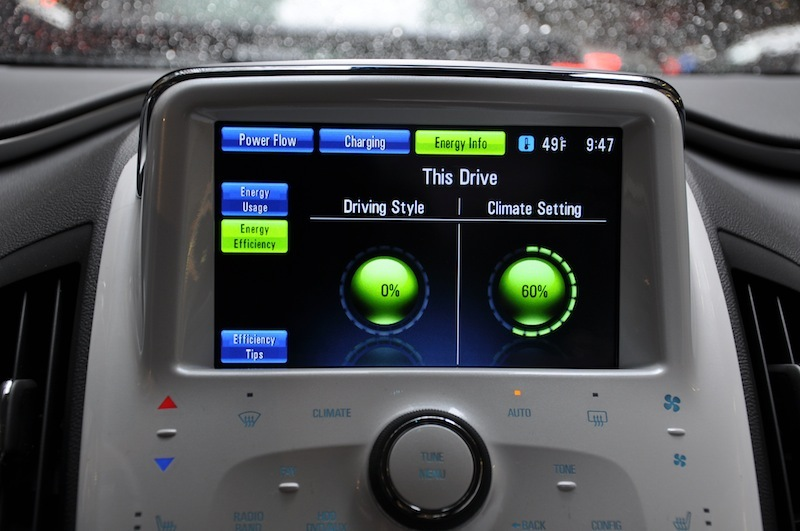 The Volt offers efficiency tips on how to improve your driving.
