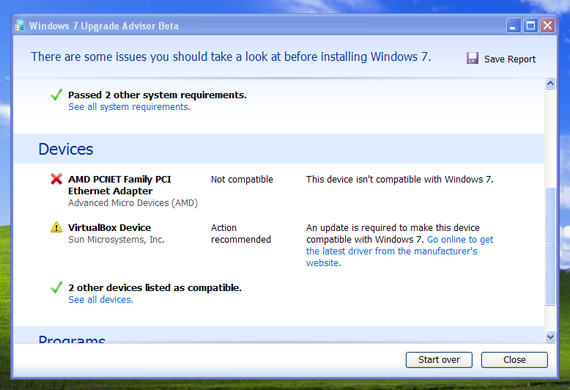 Windows 7 Upgrade Advisor 2