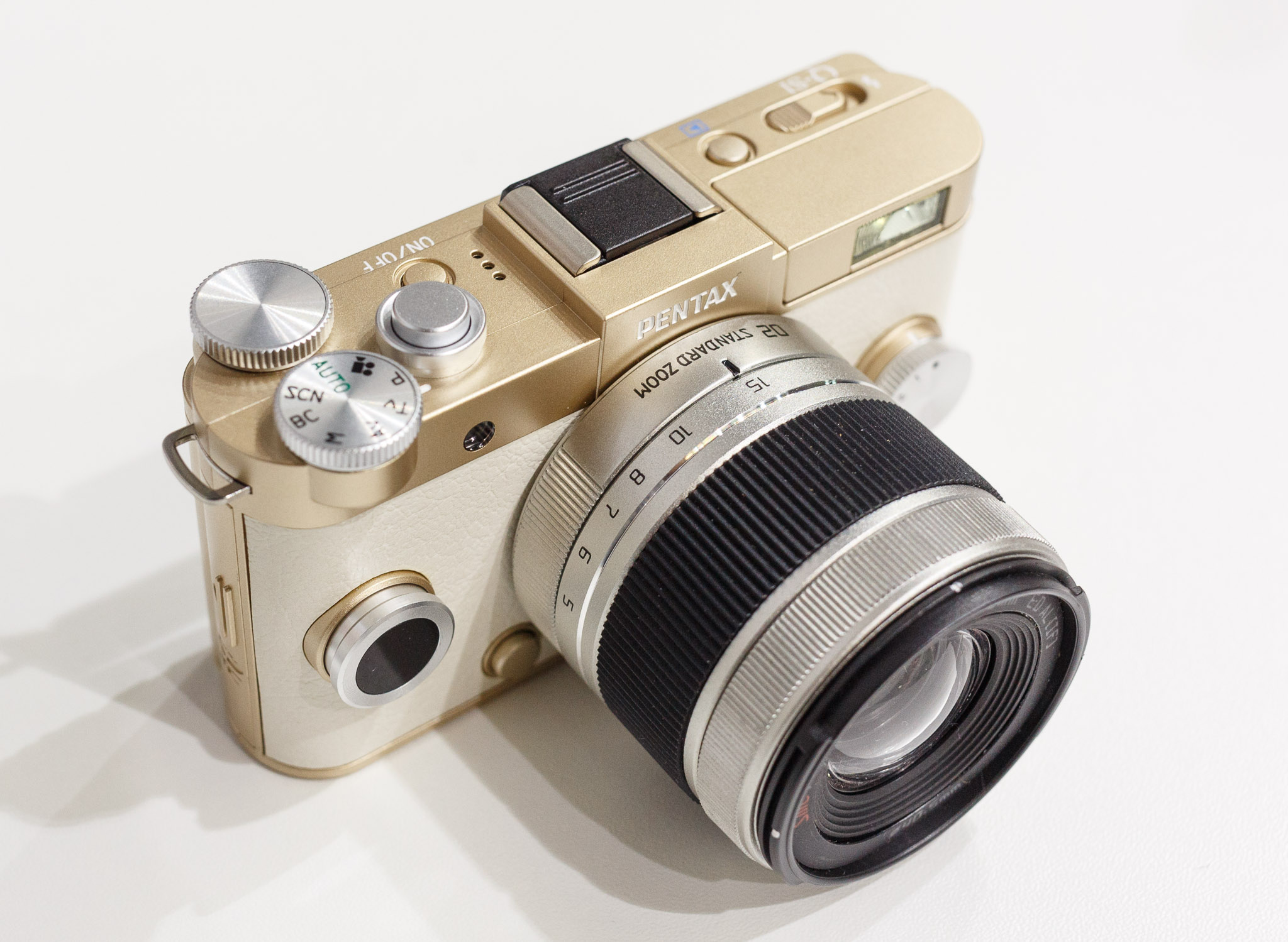 Pentax Q-S1 is very small camera but features a choice of eight interchangeable lenses.