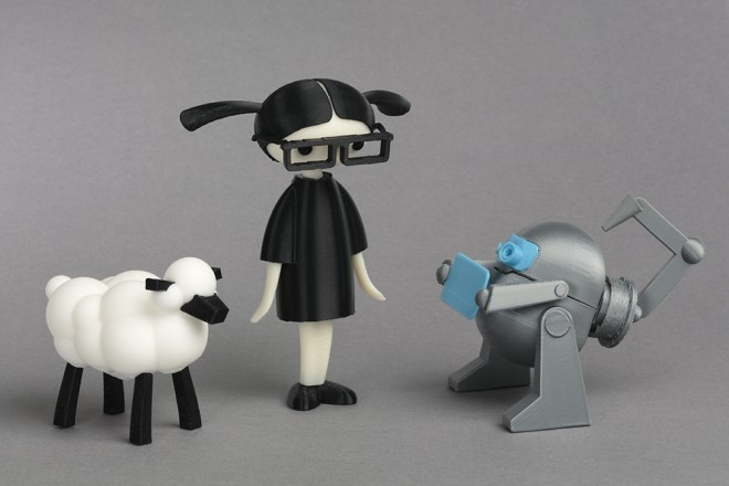 Using Thingiverse, readers can download files of their favorite characters from the book and make 3D printed toys they can hold in their hands.