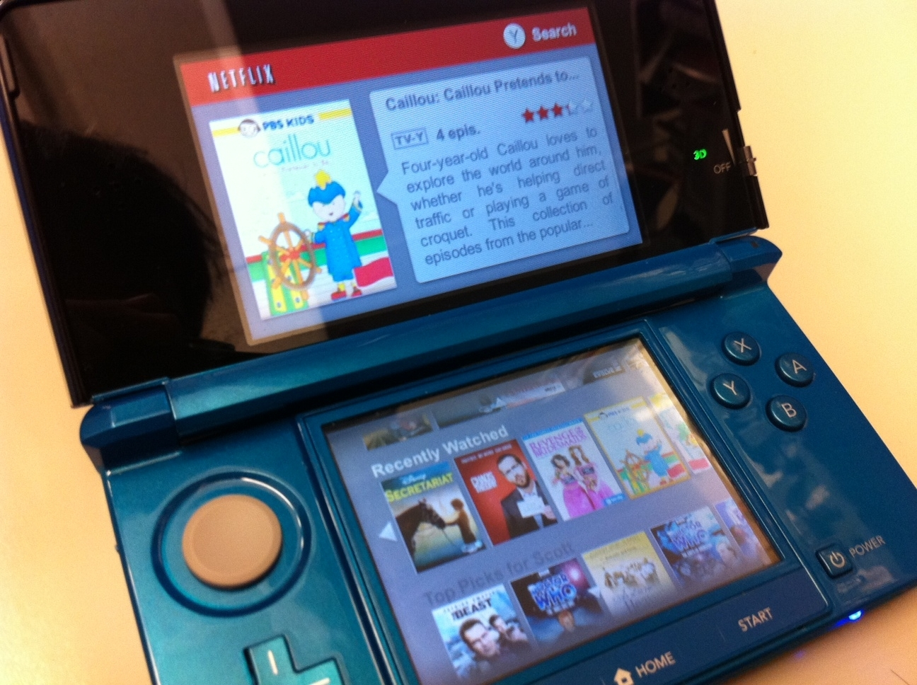 Netflix on the 3DS.