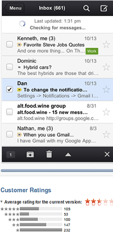 Google's Gmail app is still getting shot down by unhappy users.