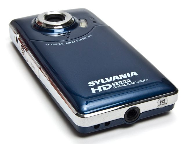 The Sylvania HD1Z, shown here in midnight blue, is a new camcorder available exclusively from Woot--but only for today.