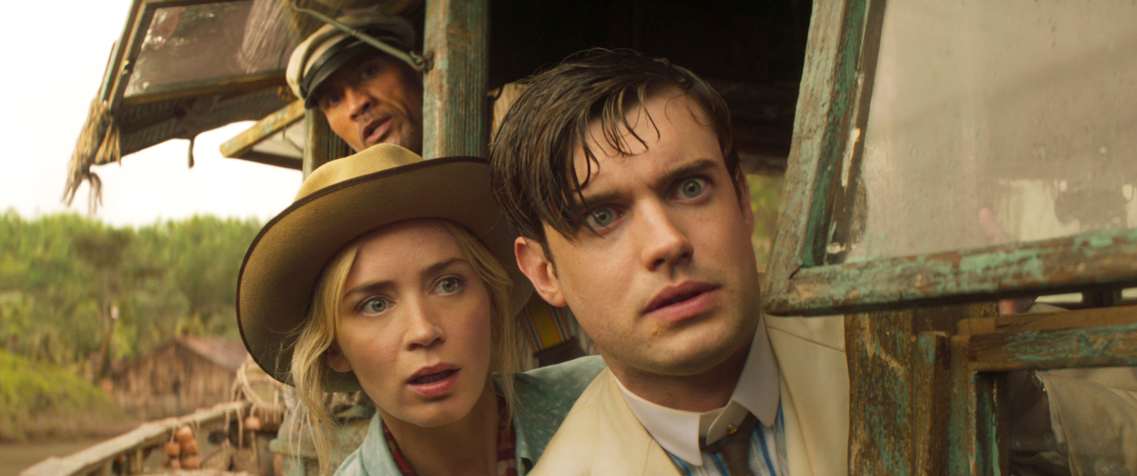 The Rock, Emily Blunt and Jack Whitehall in Jungle Cruise