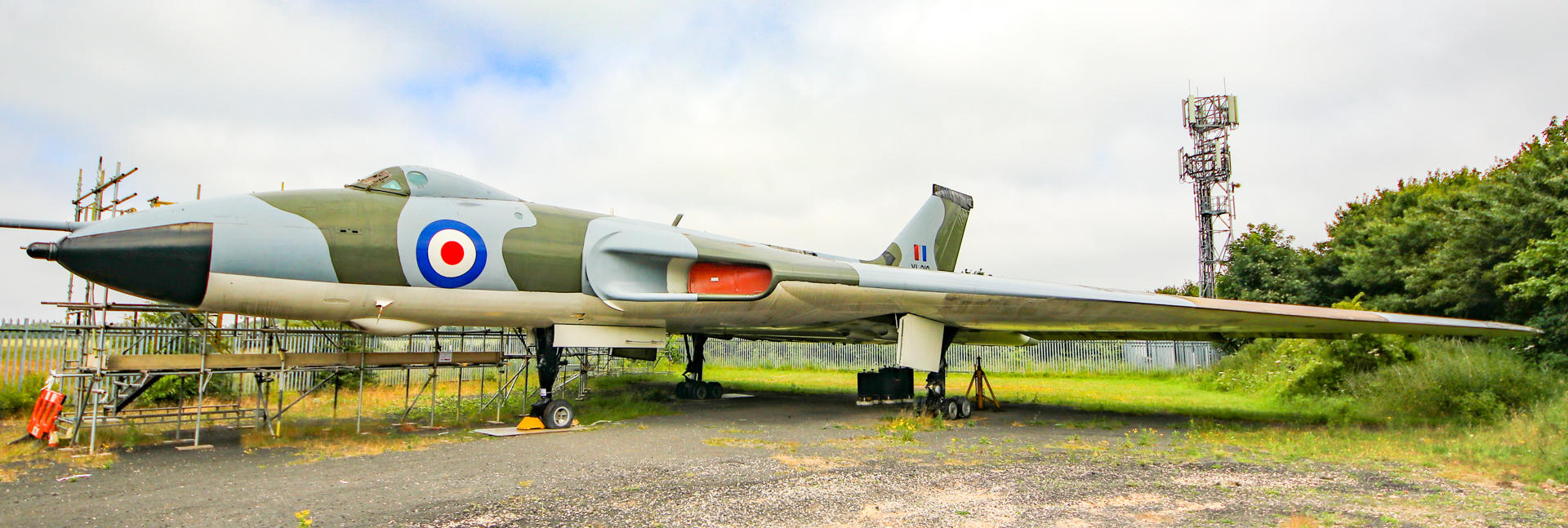 Avro Vulcan aircraft at the North East Land Sea and Air Museum