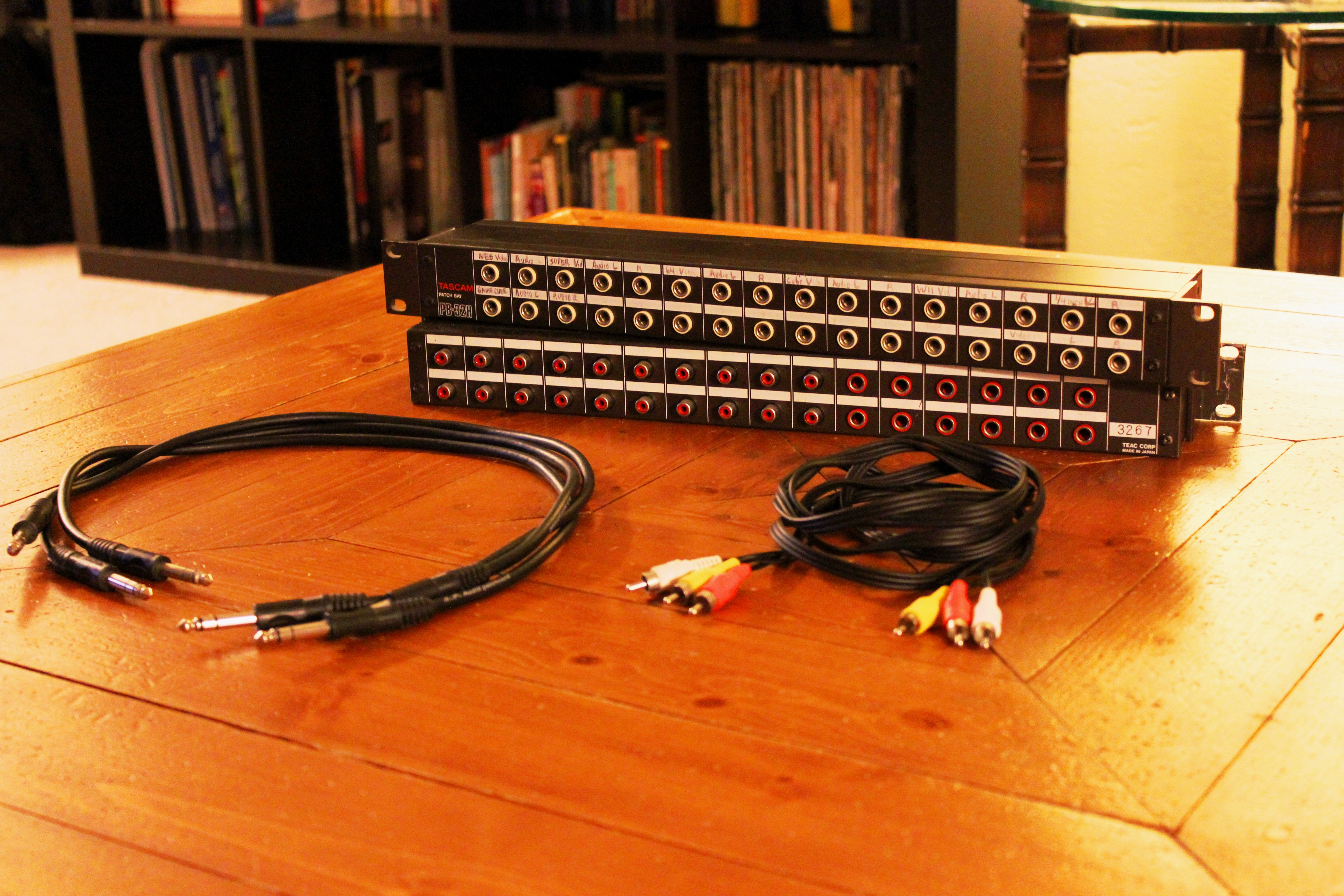 Video game patch bay supplies
