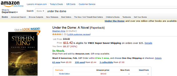 """Amazon will stream CBS's adaptation of Stephen King's """"Under the Dome."""""""