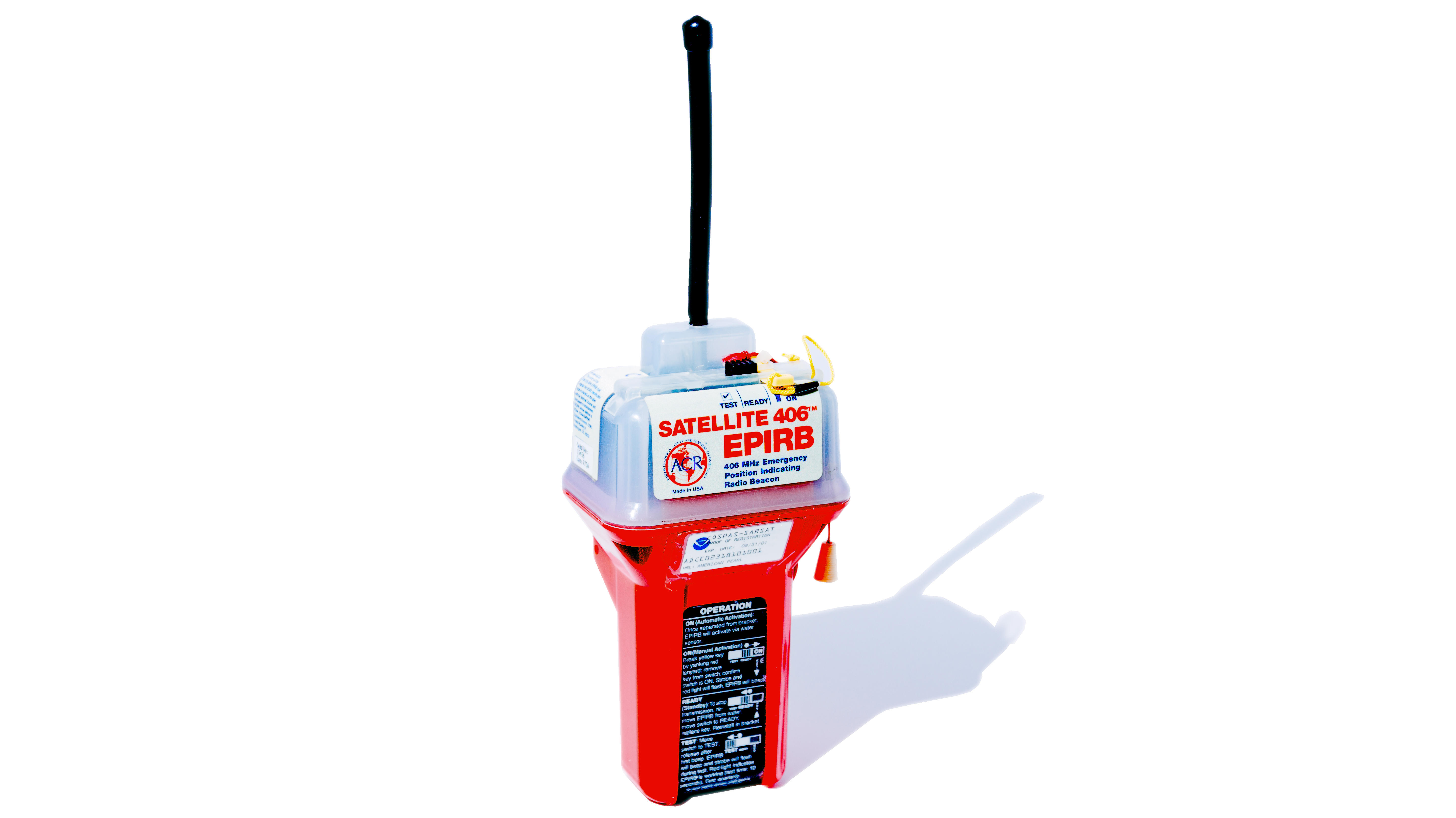 An emergency position-indicating radio beacon, or EPIRB.