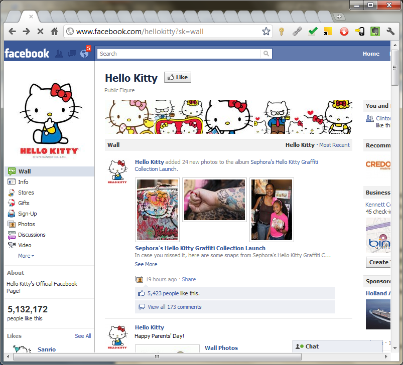Step 1: Navigate to Facebook page.