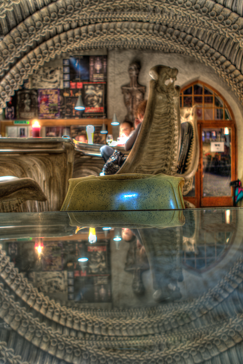 Davies wants to create a welcoming and comfortable experience, like the one at the Gruyeres Giger Bar, for the US Giger Bar.