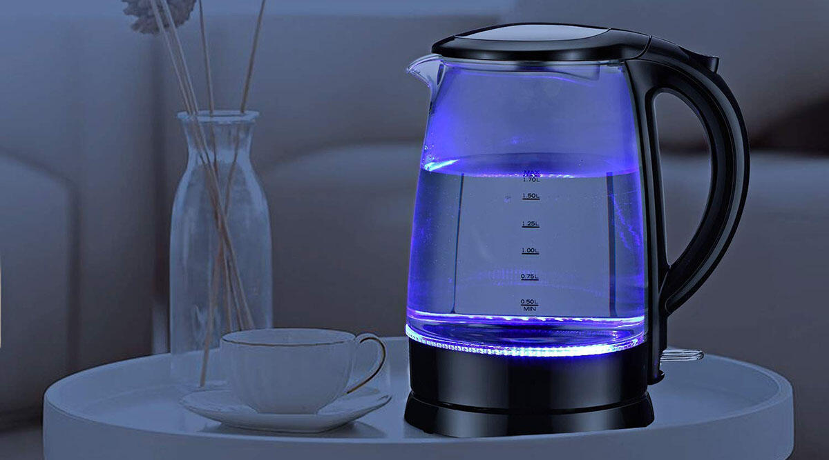 This glowing water kettle with a safety switch ($30)