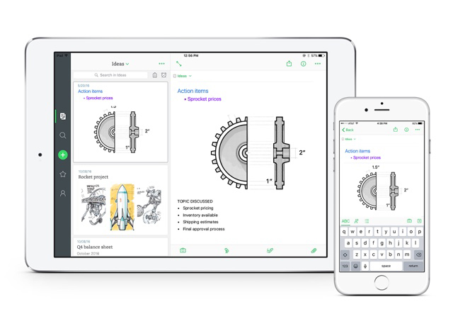 <p>Evernote released a new version of its iOS app.</p>