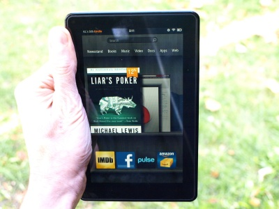 Amazon Kindle Fire home screen