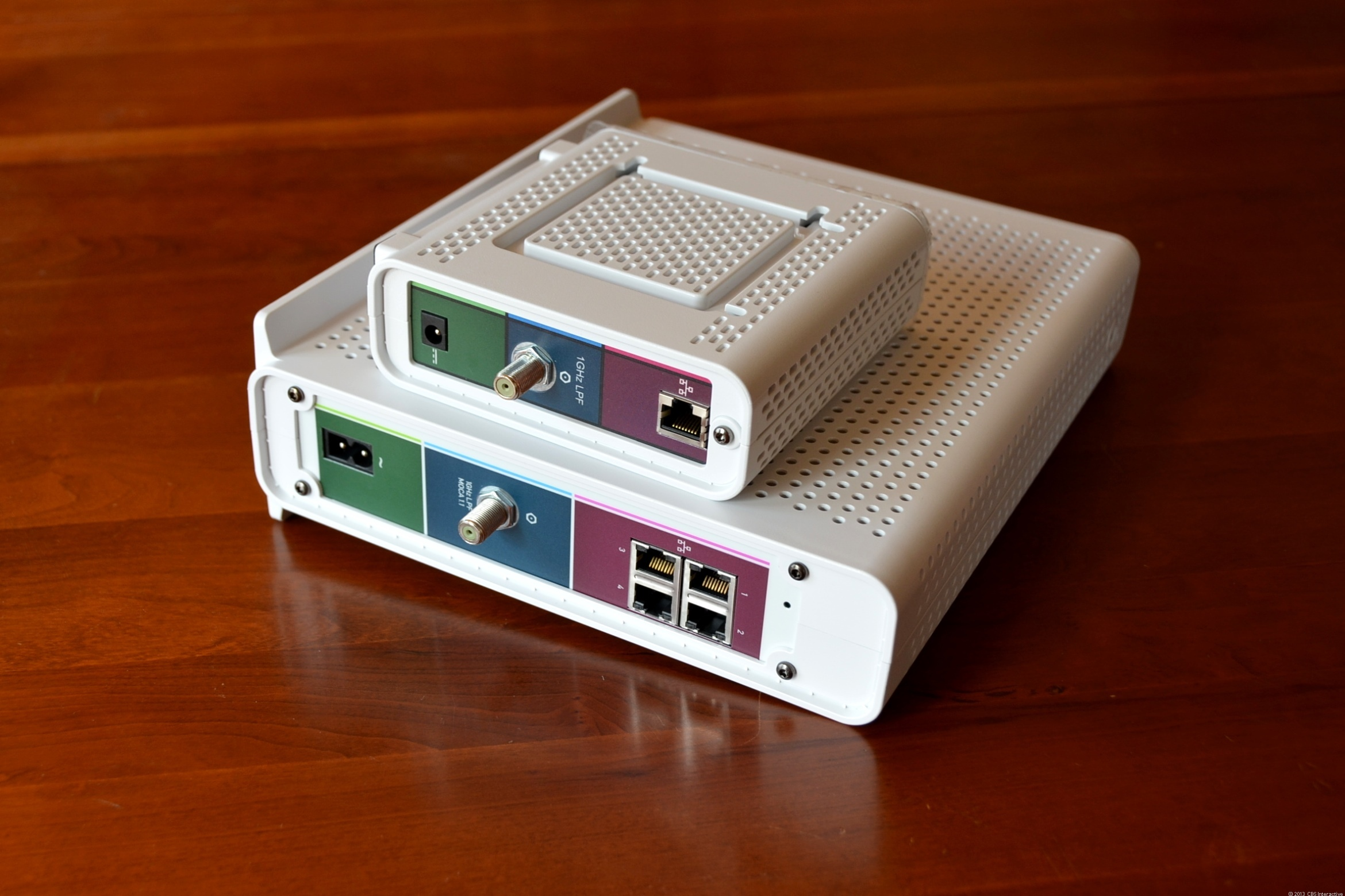 The SURFboard eXtreme is so much larger than a standalone cable modem.