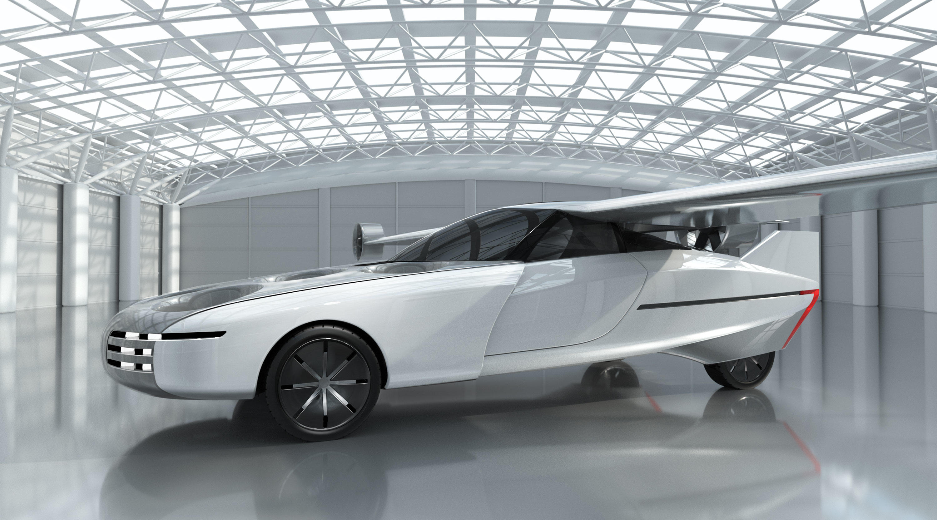 NFT's Aska flying car is designed to drive on the road then fly one to three passengers up to 150 miles.