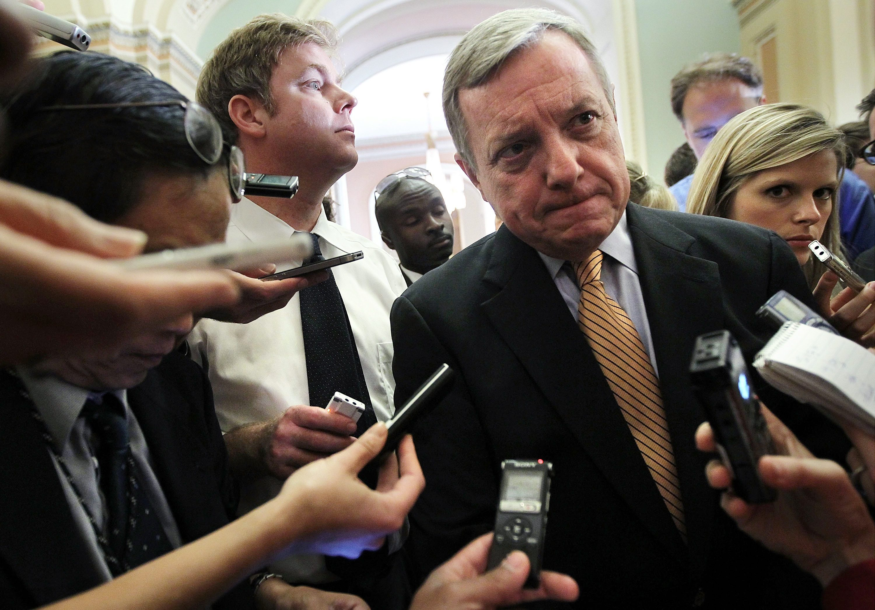 """[If] Main Street retailers collect sales taxes on behalf of consumers, why shouldn't online retailers do the same?"" asks Sen. Dick Durbin, an Illinois Democrat."