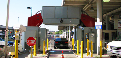 This scanner uses X-rays to probe the interior of vehicles. It's called the Z Portal and is in use at the San Ysidro, California border crossing.