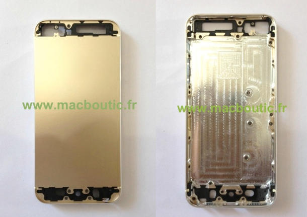 Purported images of 'gold' iPhone 5S from Macboutic emerged on Friday.