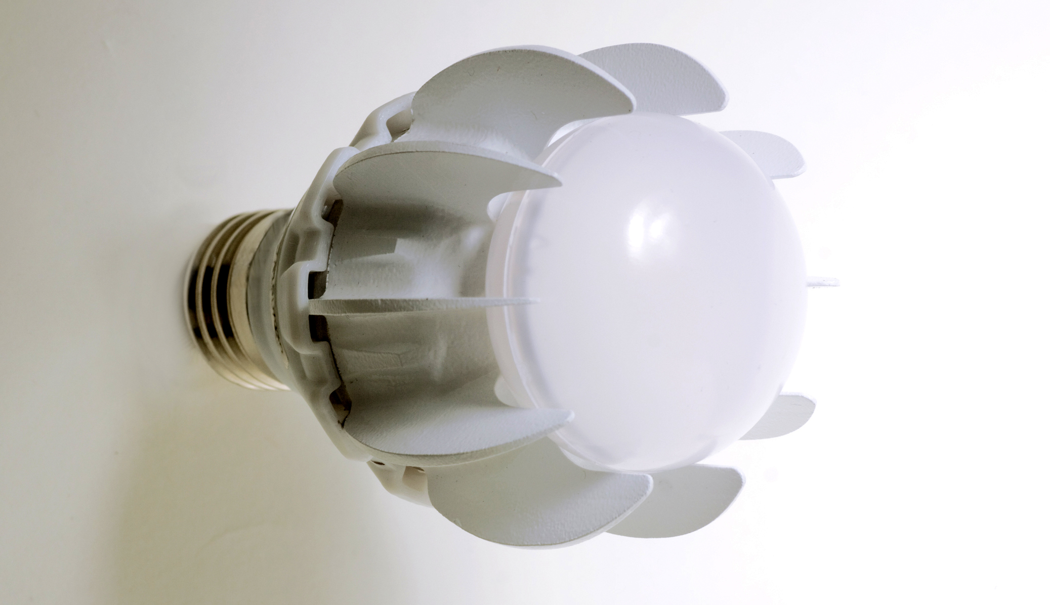 """Active cooling inside: GE's LED bulb has """"synthetic jet"""" technology to actively circulate air to cool LED chips."""