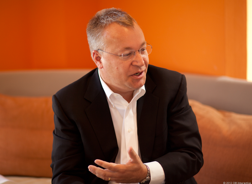 Nokia CEO Stephen Elop speaks with CNET October 2012
