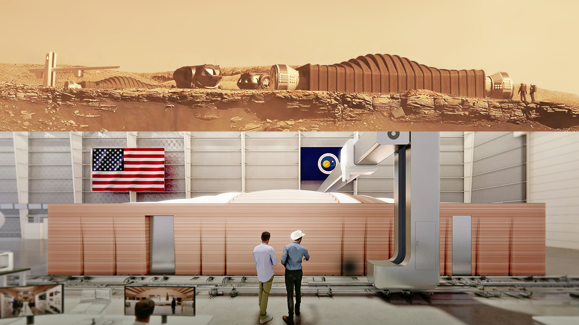 Video: Four people will spend a year living in this 3D-printed Mars habitat