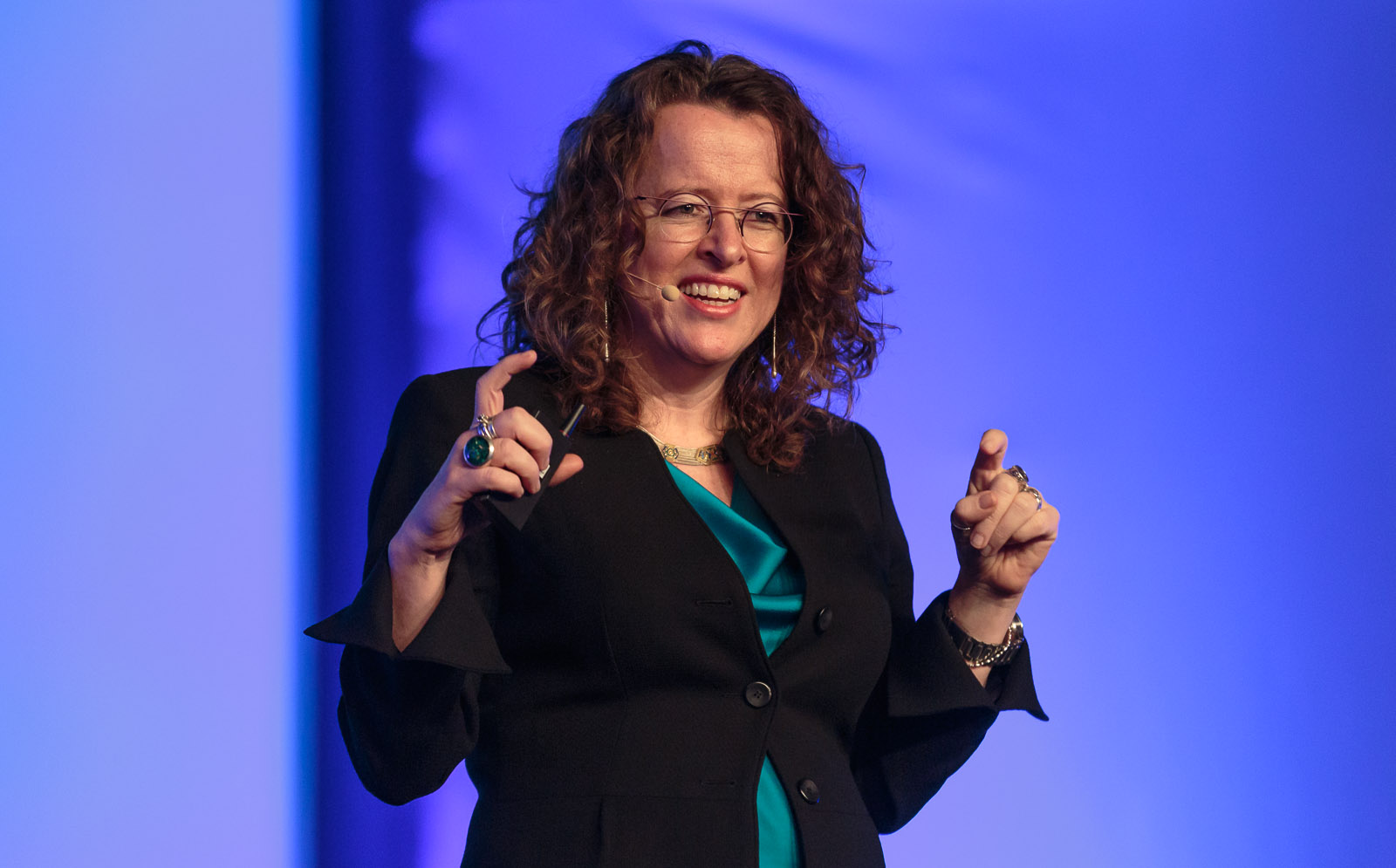 Genevieve Bell, Intel's anthropologist, speaking at Mobile World Congress.