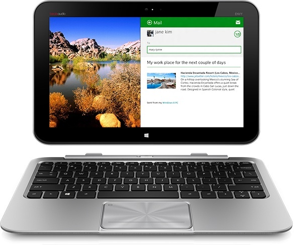 HP Envy x2 tablet with keyboard dock. Will it get a quad-core 'Bay Trail' chip? Chance are pretty good it will.