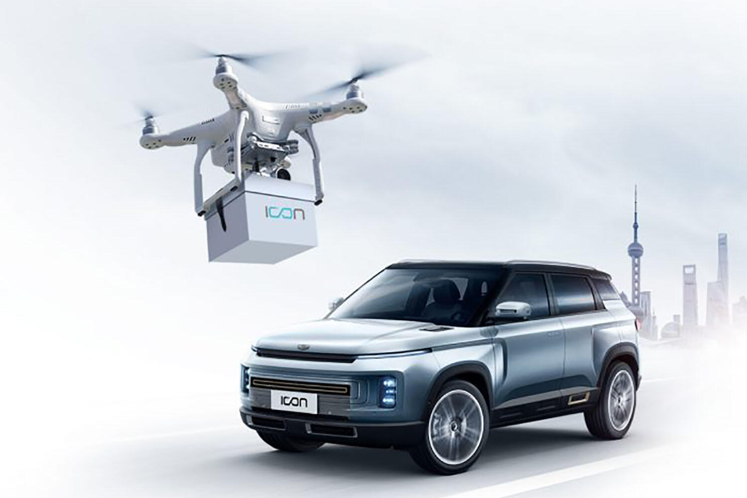 Geely drone delivery