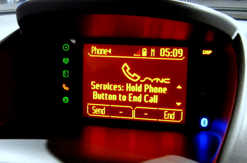Ford Sync Services display