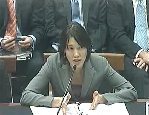 Katherine Oyama, Google's copyright counsel, who was the lone witness allowed to testify against SOPA