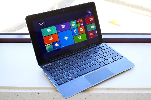 Dell Venue 11 Pro tablet with keyboard.