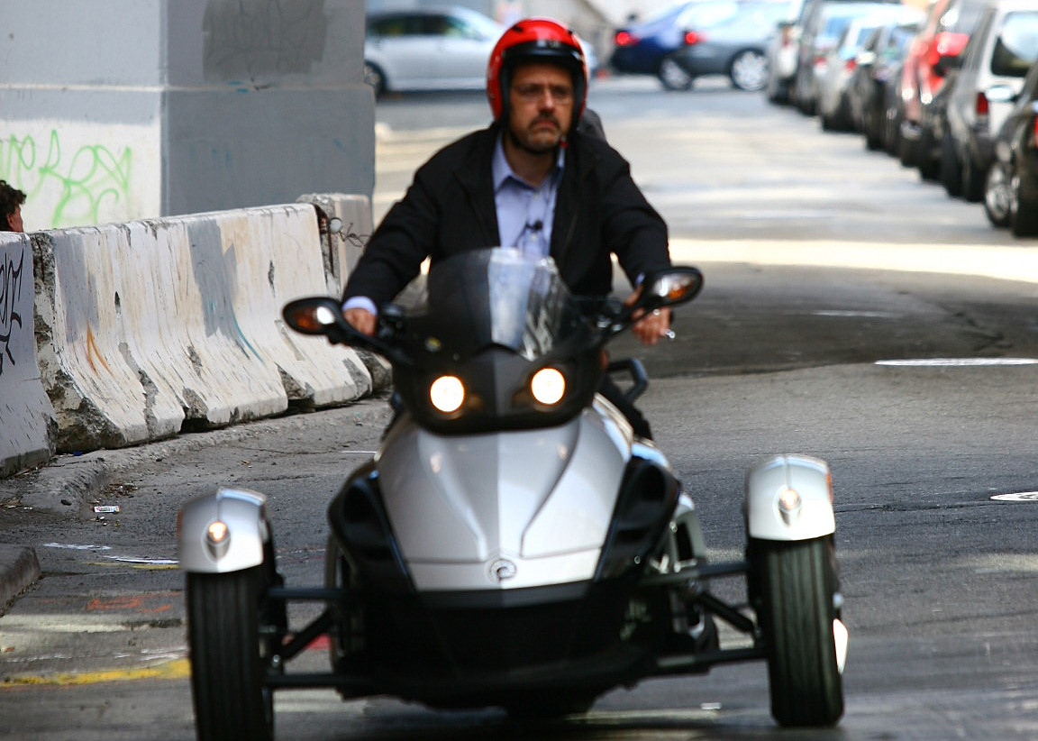 Brian Cooley on a Can-Am Spyder