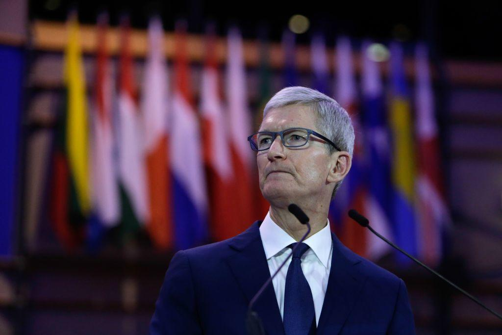 Tim Cook, CEO of Apple, at the European Parliament