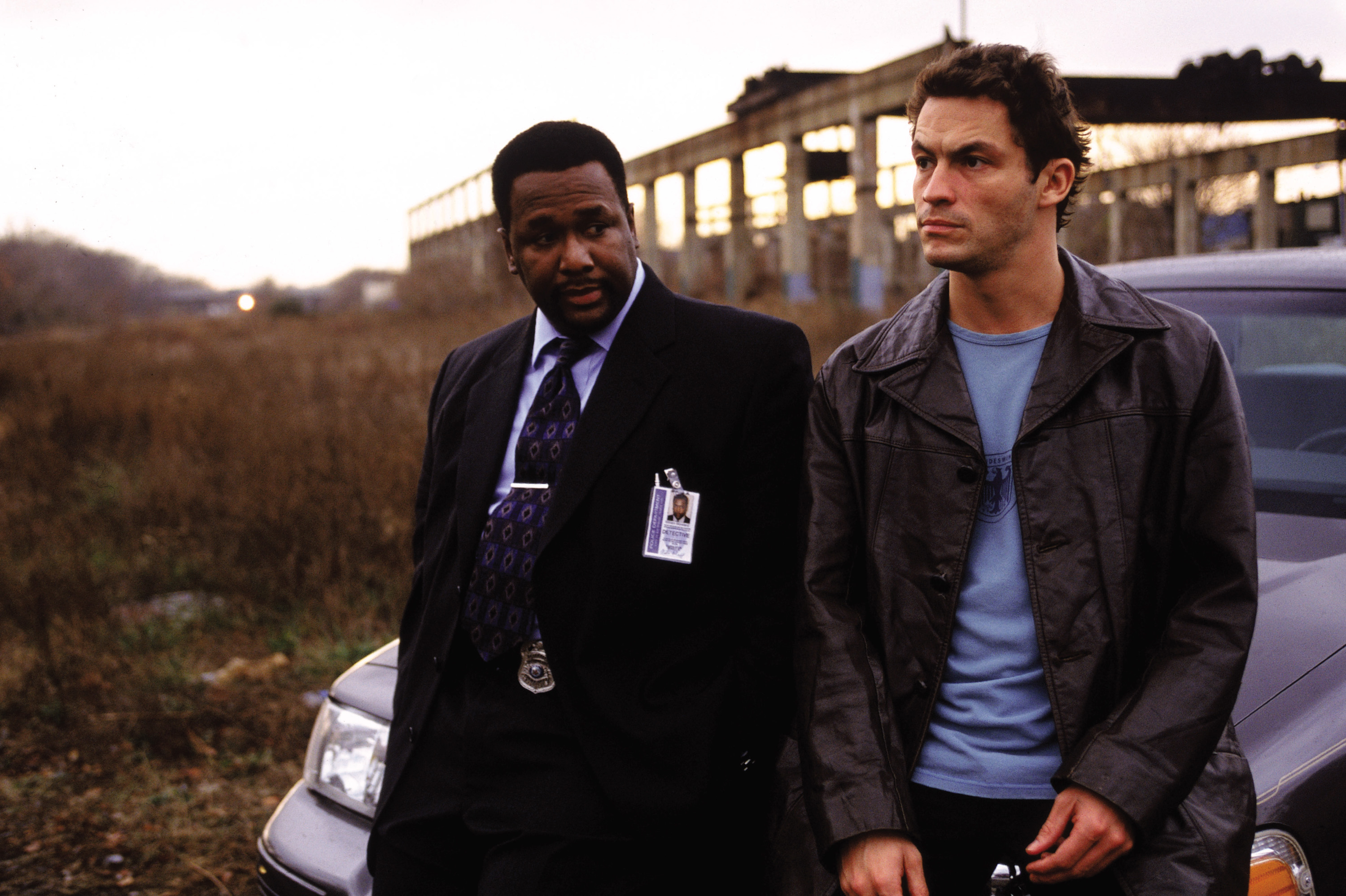 Wendell Pierce and Dominic West in The Wire