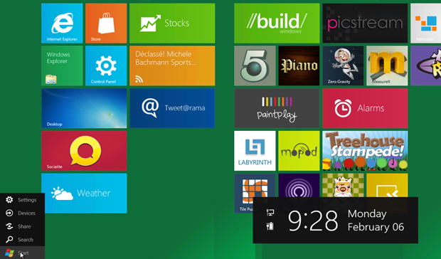 Microsoft is removing the familiar start button for the Consumer Preview of Windows 8.
