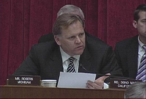 House Intelligence Chairman Mike Rogers, who says CISPA will not endanger Americans' privacy.