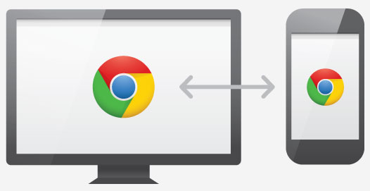 Chrome for Android synchronizes with Chrome for personal computers.