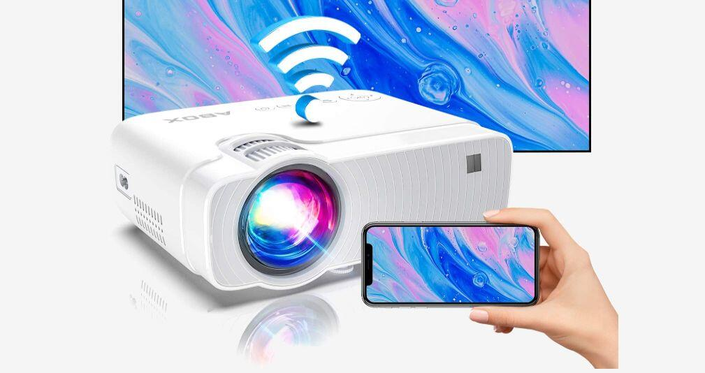 This 720-pixel projector with Wi-Fi is just  right now
