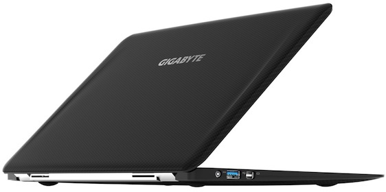 The 2.1-pound Gigabyte X11 ultrabook is lighter than the 2.38 pound 11-inch MacBook Air.