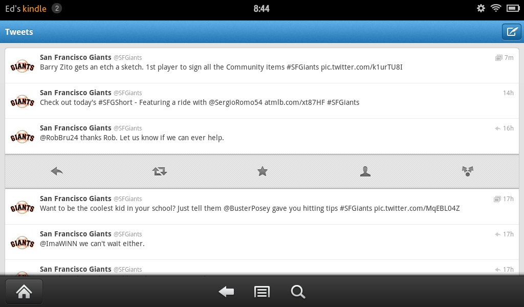 Twitter app for Kindle Fire