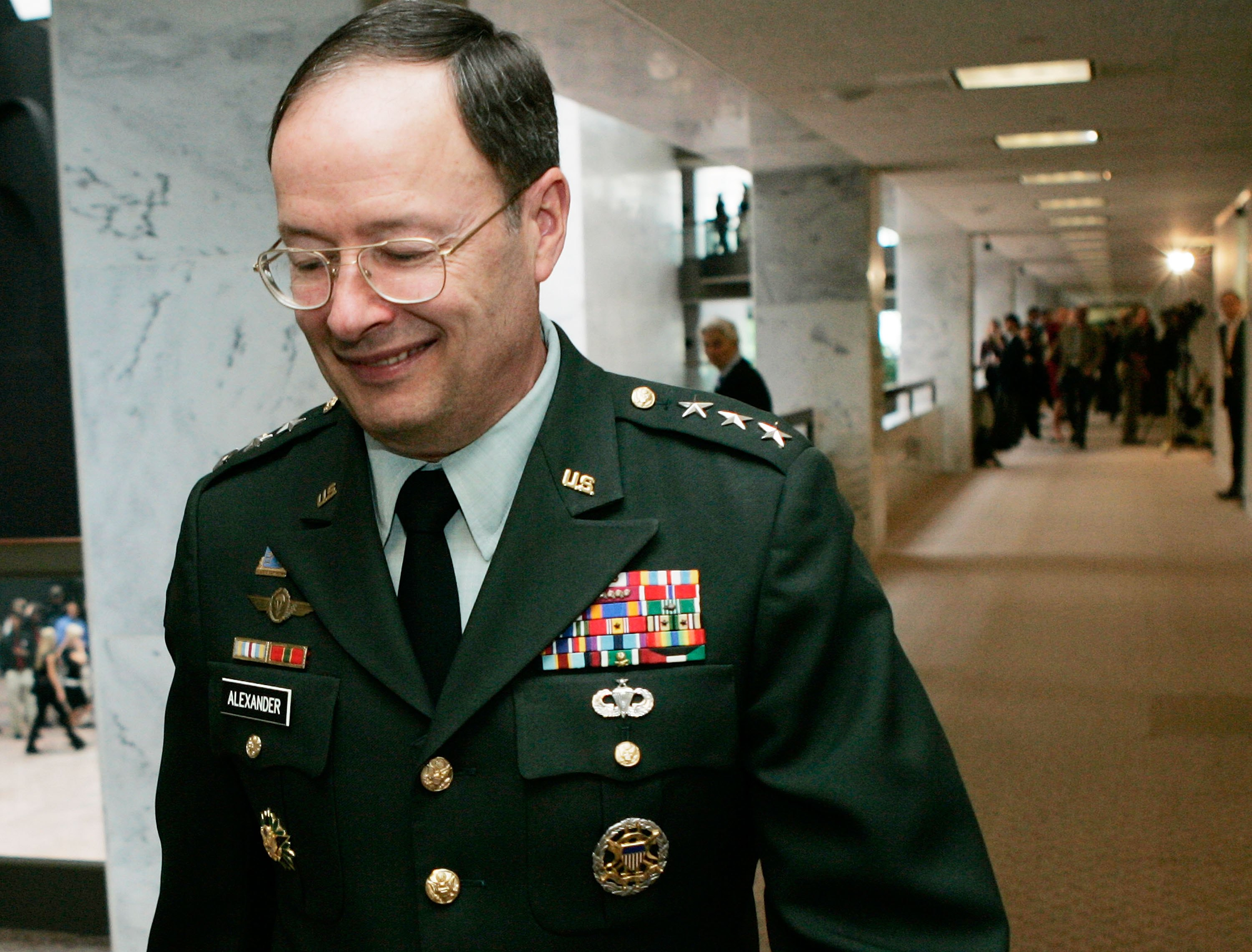 NSA director Keith Alexander, shown here in a file photo, who's also the commander of the U.S. Cyber Command.