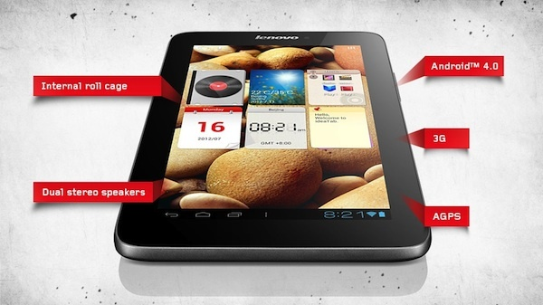 Lenovo 7-inch IdeaTab A2107.  7-inch tablets will go up against large-screen smartphones, not PCs, said Lenovo's CEO.