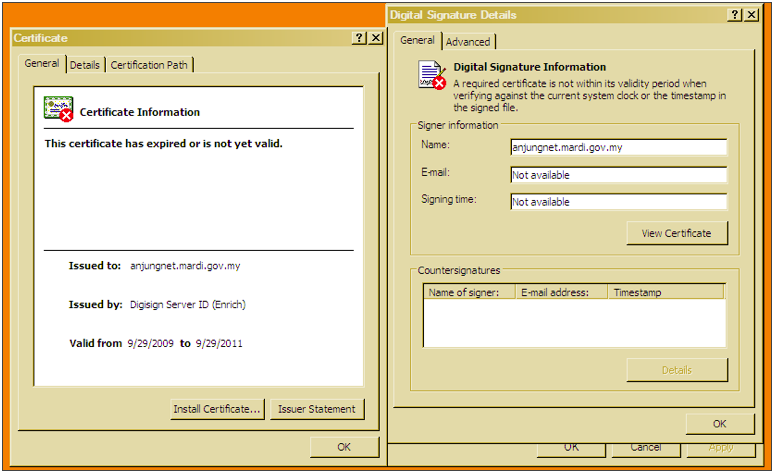 This screen shot shows details of the certificate that was stolen and used to trick computers into trusting malware.