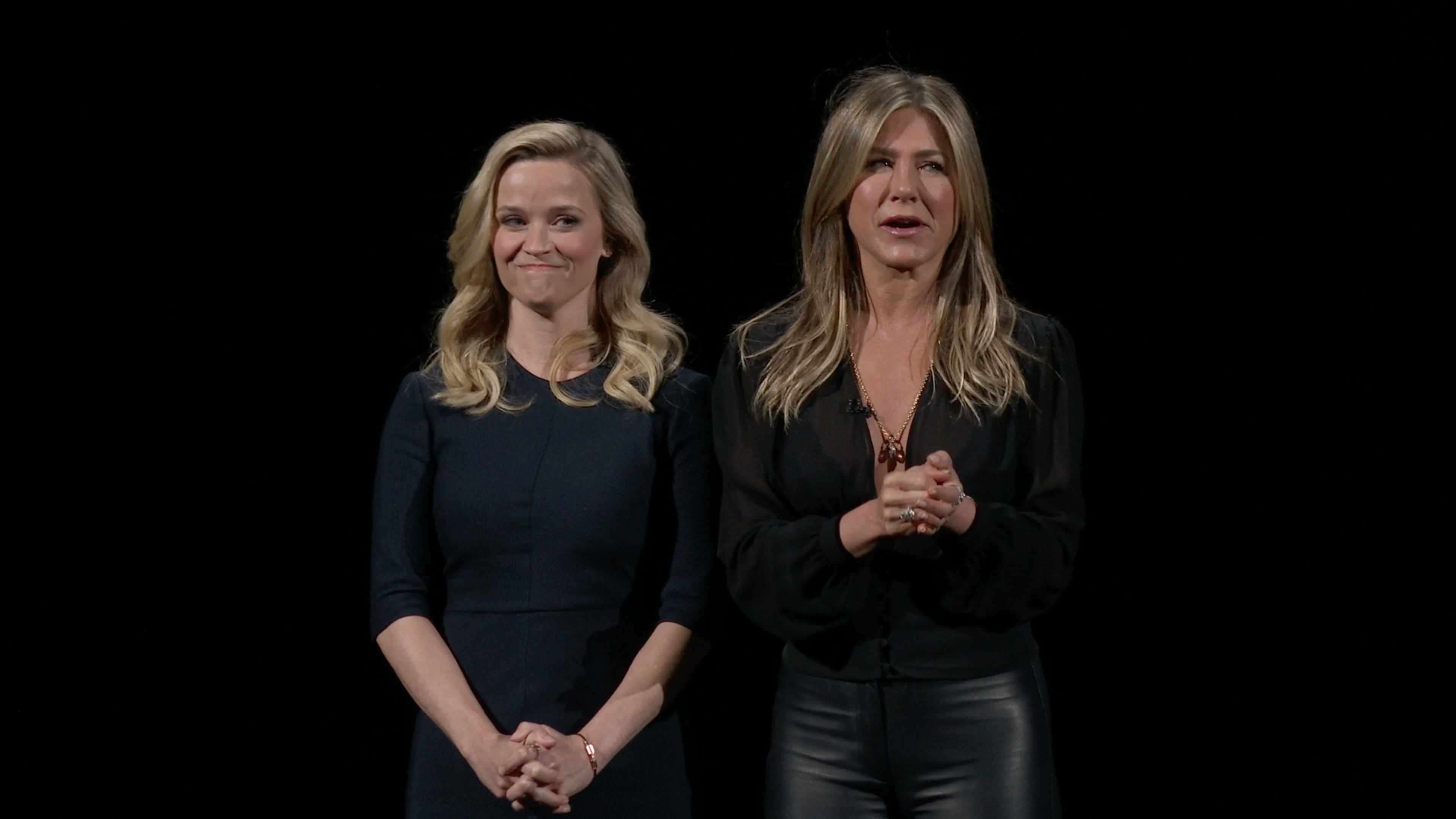 Actresses Reese Witherspoon, Jennifer Aniston