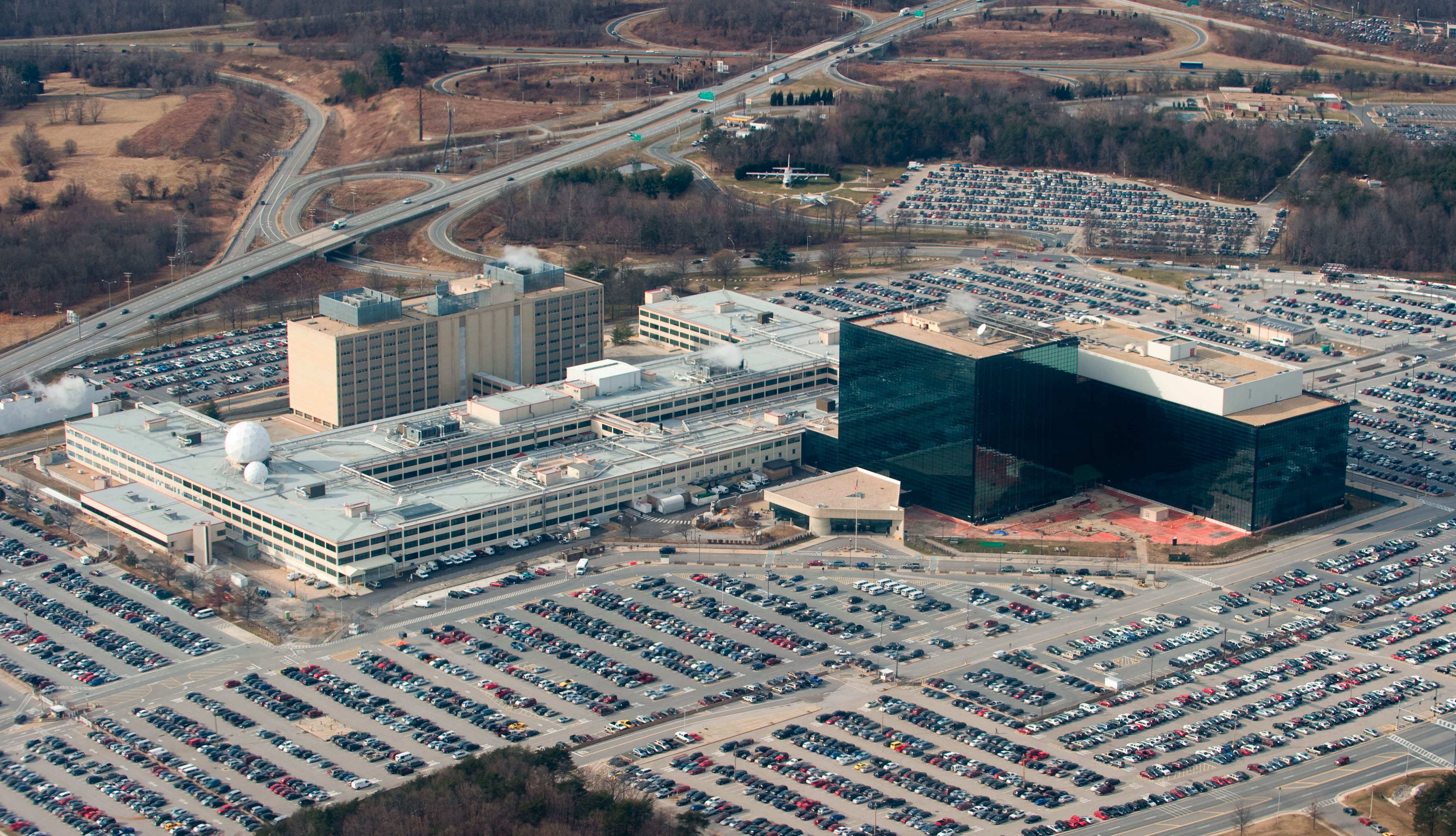 "The Fort Meade, Md. headquarters of the National Security Agency, which is vacuuming up Verizon call records ""on an ongoing daily basis."""