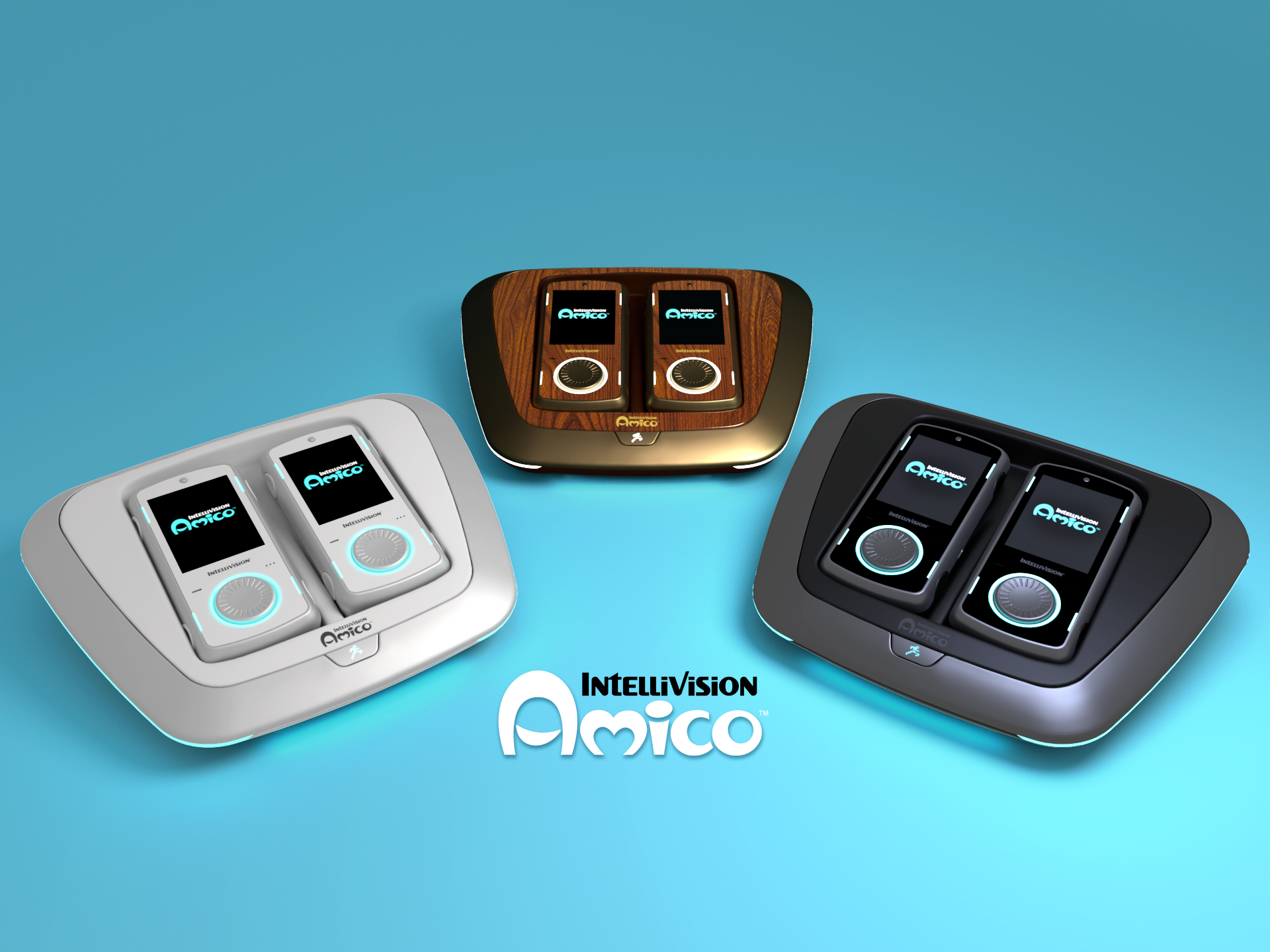 <p>The Intellivision Amico, and its iPod-like controllers. The system's been delayed until 2021.&nbsp;</p>