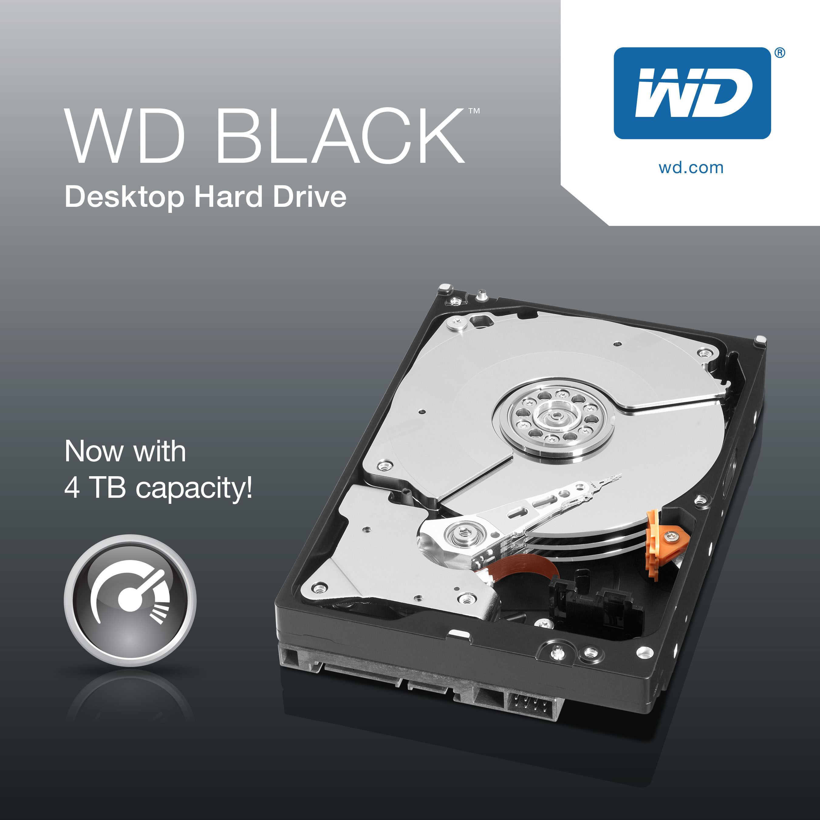 WD now ships the WD Black, which offers high performance and 4TB of storage space.